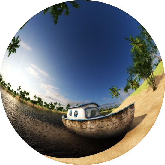 Equidistant fisheye 180°, used for fulldomes. Image by Adriano Oliveira