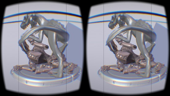 Virtual Reality Viewport Addon in action - sample scene from Creature Factory 2 by Andy Goralczyk